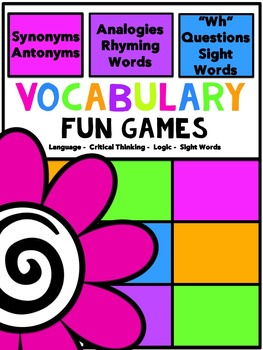 Vocabulary Fun Games (Special Education)