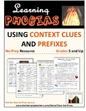 Vocabulary Activities: Worksheets to Learn Phobias Via Con