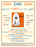 Vocabulary Activities and Halloween Fun Poster FREE