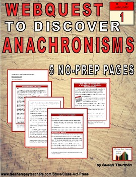 Vocabulary Activities: Anachronisms: The Time of Your Life (3 Pg., Ans. Key, $3)