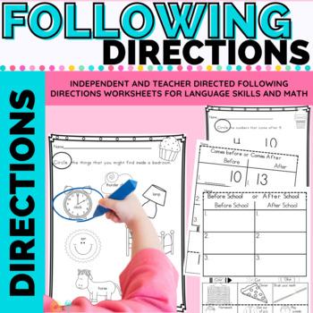 Following Directions Activity: Directional Vocabulary ELA