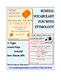 Vocabulary Activities Bundle: Etymology (Grades 8-11, 11 P