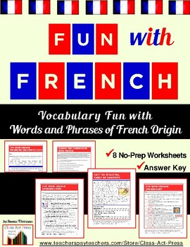 Vocabulary Activities: French Words & Phrases (4 P., Ans.