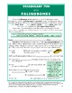 Vocabulary Activities: Fun with Palindromes (Gr. 6+)