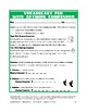 Vocabulary Activities: Rhyming Compounds: Bell-Ringer Fun (6 Pgs., Ans. Key, $3)