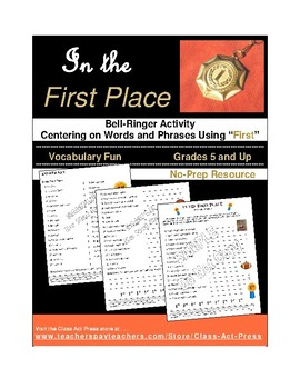 Vocabulary Activities: Words and Phrases Using FIRST (3 P., Ans. Key Inc., $2)