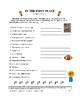 """Vocabulary Fun with Words and Phrases Using """"First"""" (3 Pgs"""