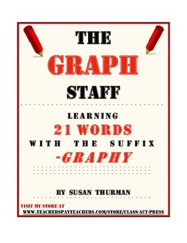 "Vocabulary Activities Fun: The Suffix ""-Graphy"" (3 P., Ans. Key, Grades 5-8, $3)"