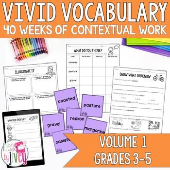 Vocabulary BUNDLE for Volume 1 (grades 3-5)