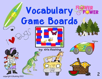 Vocabulary Game Boards