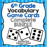 6th Grade Vocabulary Cards Bundle