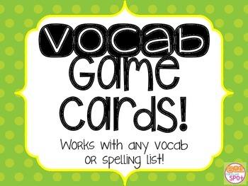 Vocabulary Game Mashup