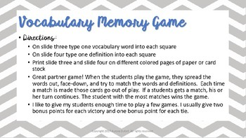 Vocabulary Game Pack - All Subjects