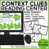 Vocabulary Game | Vocabulary Center | Context Clues Activity