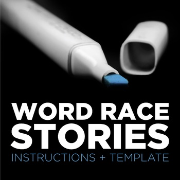Word Race Stories vocabulary game with writing extension