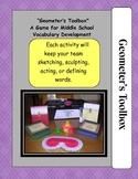 Vocabulary Game for Middle School:  Geometer's Toolbox