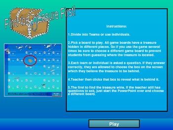 Vocabulary Games Sunken Treasure