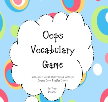 4th grade Journeys' Reading Series Vocabulary Game