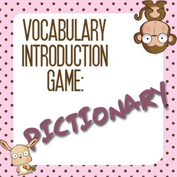 Vocabulary Games: Vocabulary Introduction, the Fun Way! (4)