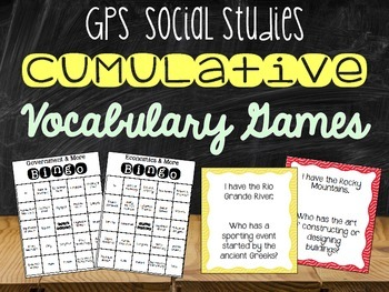 Vocabulary Games for Social Studies