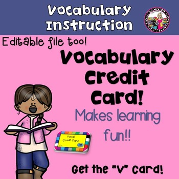 Vocabulary! Grades 3 and Up!
