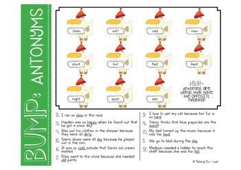 Vocabulary & Grammar: BUMP Games [Winter Edition]