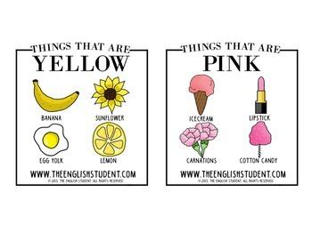 Vocabulary & Grammar Development Using Colors