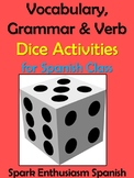 Vocabulary, Grammar and Verb Activities for Spanish Class / Dice Activities