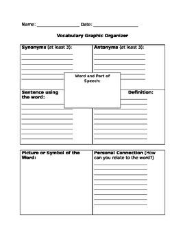 Vocabulary Graphic Organizer