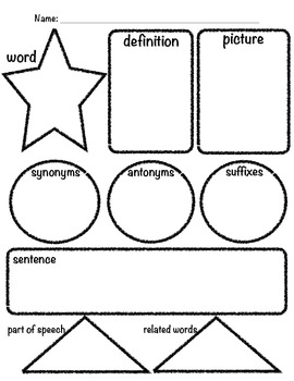 Vocabulary Graphic Organizer 2.0