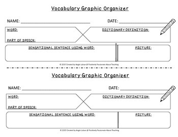 Vocabulary Graphic Organizer 3