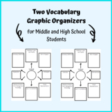 Two Middle & High School Speech Therapy Vocabulary Graphic Organizers