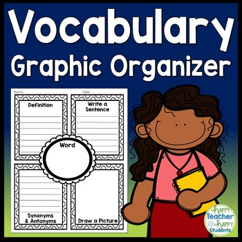 Vocabulary Graphic Organizer (Full, 1/2 & 1/4 page versions)