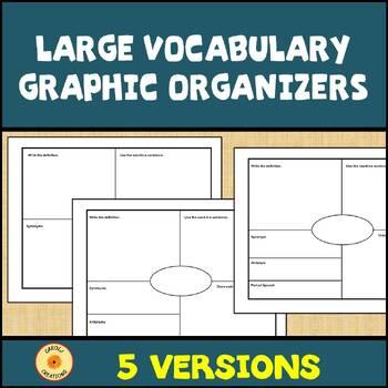 Vocabulary Graphic Organizer:  Large