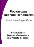 Vocabulary Graphic Organizer Set (based upon Frayer model)