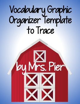 Vocabulary Graphic Organizer Template to Trace