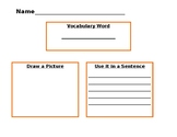 Vocabulary Graphic Organizer - Visualize and Use the Word!