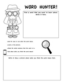 Vocabulary Graphic Organizer and Fun Class Activity (Commo