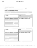 Vocabulary Graphic Organizer and Vocabulary Menu