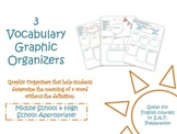 Vocabulary Graphic Organizers