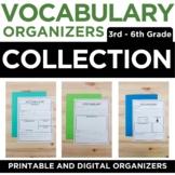 Vocabulary Graphic Organizers | 3rd-6th Grade