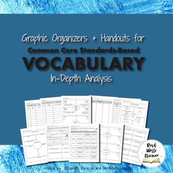 Vocabulary Graphic Organizers   Common Core   Grades 6-8