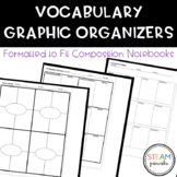 Vocabulary Graphic Organizers- Formatted to fit Interactiv