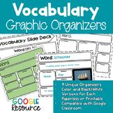 Vocabulary Graphic Organizers - Google Classroom Resource