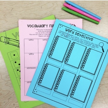 Vocabulary Graphic Organizers for Upper Elementary