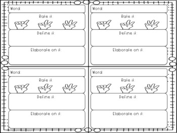 Vocabulary Graphic Organizers - Worksheet and Booklet Pages