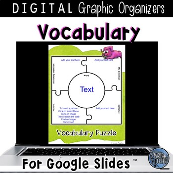 Vocabulary Graphic Organizers for Google Classroom