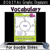 Vocabulary Graphic Organizers for Google Classroom