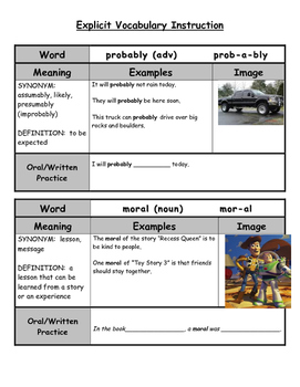 Vocabulary Grid