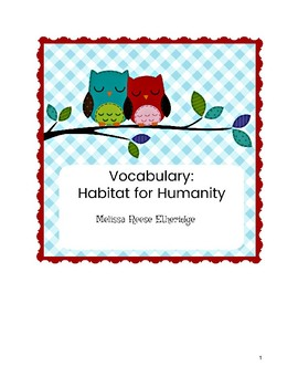 Vocabulary: Habitat for Humanity